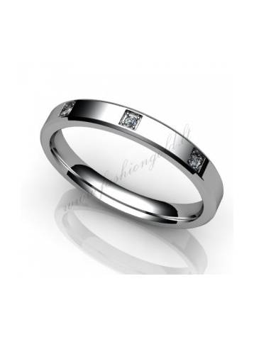 "WEDDING RING ""PROMISE WITH DIAMOND"""