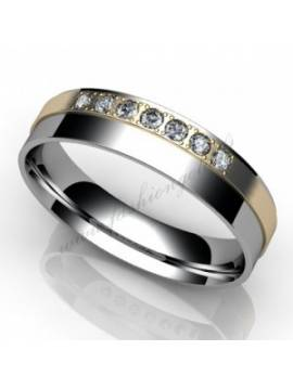 "WEDDING RING ""DUET WITH DIAMONDS"""