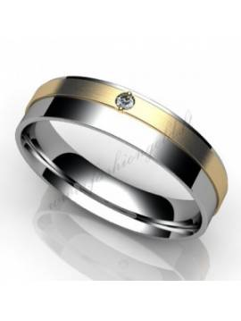 "WEDDING RING ""DUET WITH DIAMOND"""