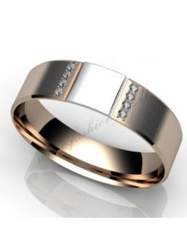 "WEDDING RING ""LOVE STAMP WITH DIAMOND"""