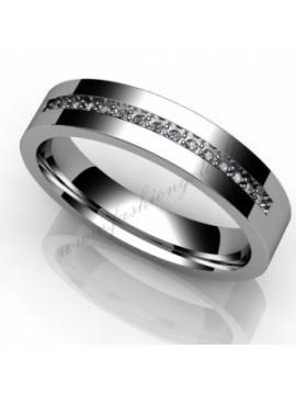 "WEDDING RING ""STRENGTH WITH DIAMONDS"""