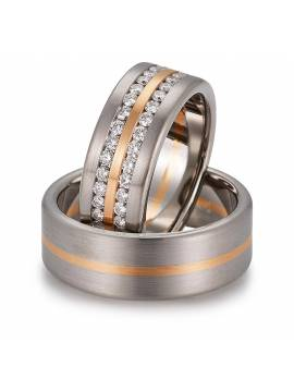 "WEDDING RING ""LUXURY IN WHITE"" (with diamonds)"