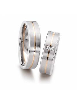 "WEDDING RING ""BLIND LOVE"" (with diamonds)"