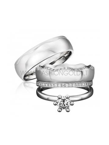 ENGAGEMENT AND WEDDING RINGS SET