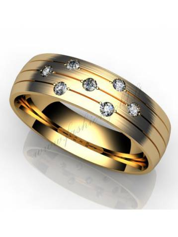"WEDDING RING ""SHINING LINES"""