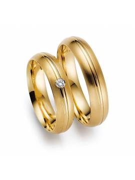 "WEDDING RINGS ""TWO HALVES"" (with diamonds)"