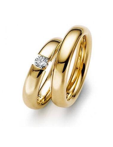 "WEDDING RINGS ""OPPOSITES"" (with diamonds)"