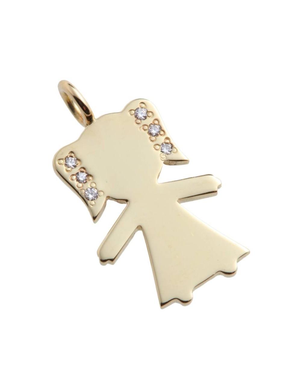 """Pakabukas """"Deimantinis angelas"""" (geltono aukso)"""