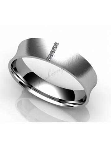 "WEDDING RING ""TULLIP WITH DIAMONDS"""