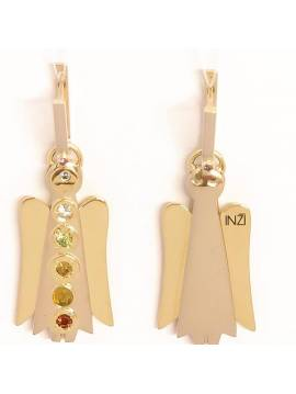 "Golden earrings ""INGRID INŽI"" jewelry collection"