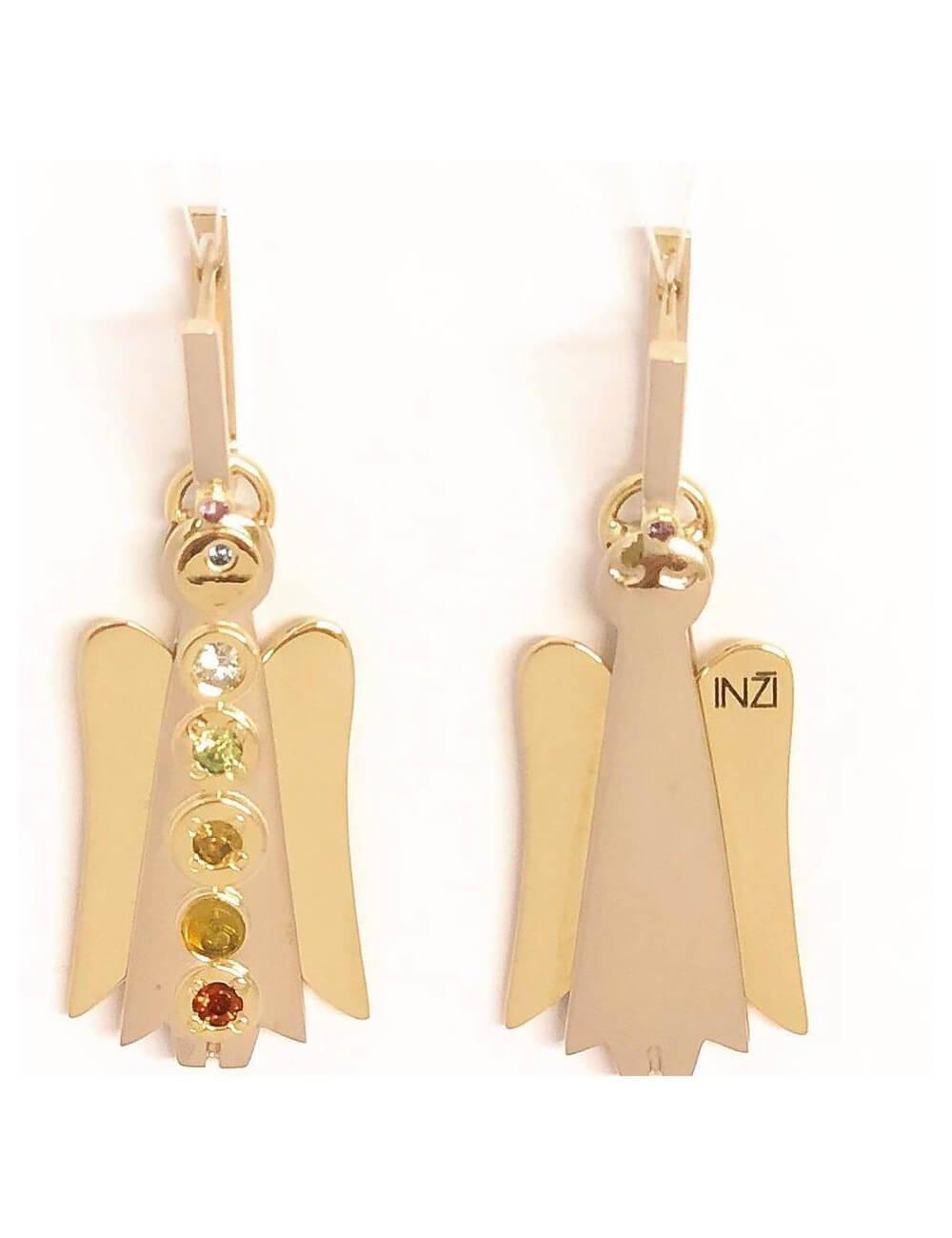 """Auksiniai auskarai """"INGRID INŽI"""" papuošalų kolekcija."""