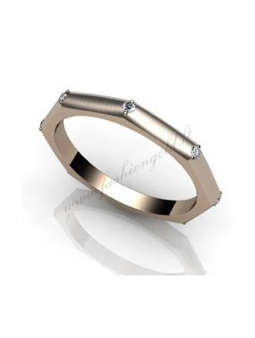 "WEDDING RING ""THE FACETED WITH DIAMONDS"" - PRODUCTION"