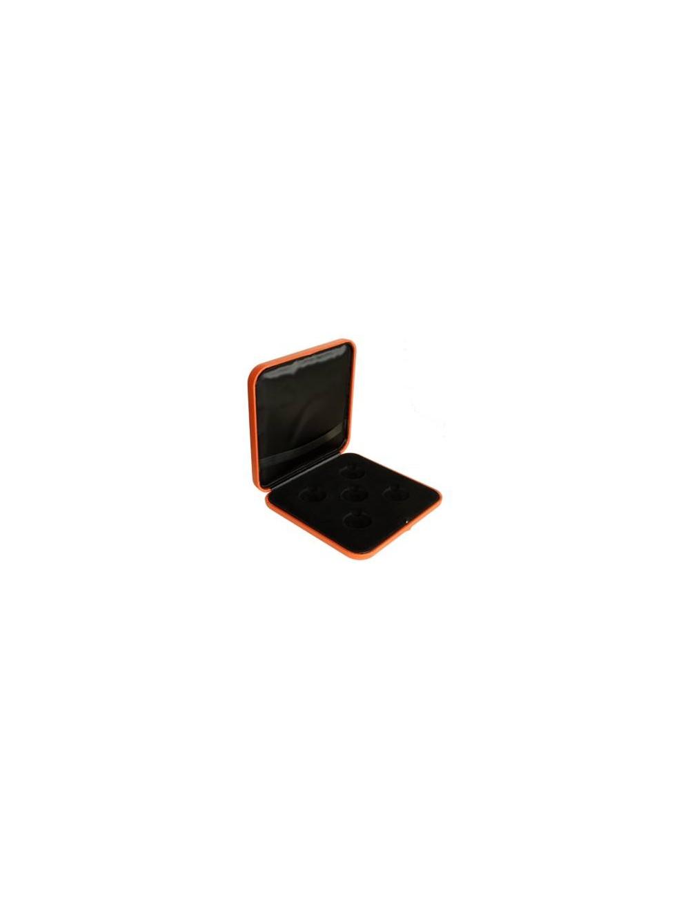 Reprezentacinė dėžutė medaliams oranžinė, 33 mm