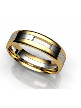 "WEDDING RING ""CONTRASTS"""