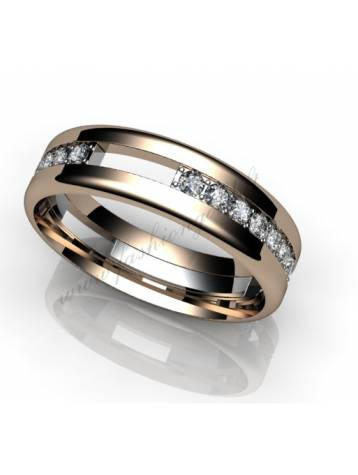 "WEDDING RING ""CONTRAST WITH DIAMOND"""
