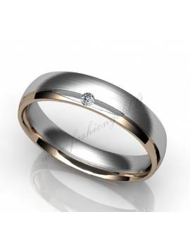 "WEDDING RING ""HARMONY WITH DIAMOND"""